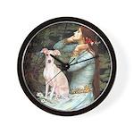 Ophelia / Italian Greyhound Wall Clock