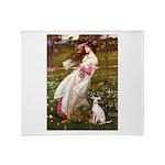 Windflowers / Ital Greyhound Throw Blanket