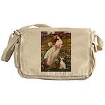 Windflowers / Ital Greyhound Messenger Bag