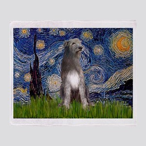 Starry/Irish Wolfhound Throw Blanket