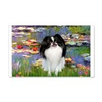 Lilies (#2)/Japanese Chin 20x12 Wall Decal