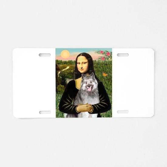 Mona's Keeshond (E) Aluminum License Plate