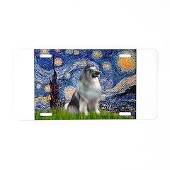 Starry / Keeshond Aluminum License Plate