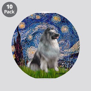 """Starry / Keeshond 3.5"""" Button (10 pack)"""