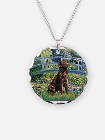 Bridge / Labrador (Choc) Necklace Circle Charm