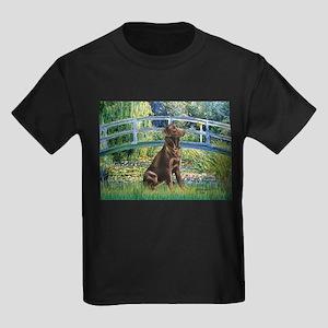 Bridge / Labrador (Choc) Kids Dark T-Shirt