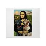Mona / Labrador Throw Blanket