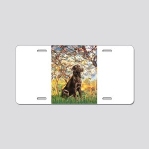Spring / Choc Lab 11 Aluminum License Plate