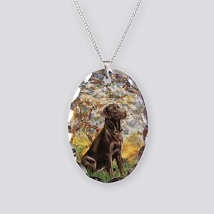 Spring / Choc Lab 11 Necklace Oval Charm