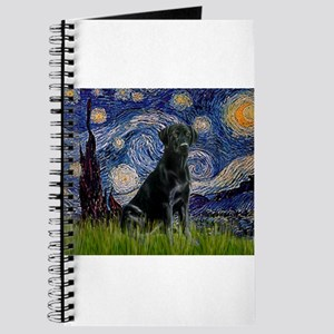 Starry Night Black Lab Journal