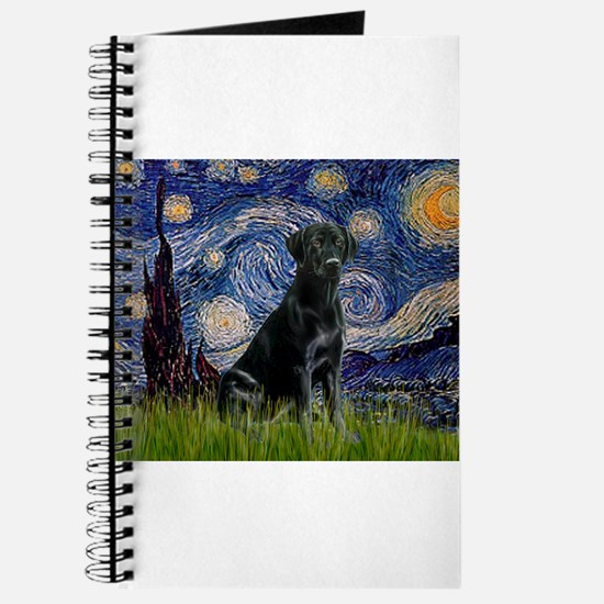 Starry Night Black Lab Journal