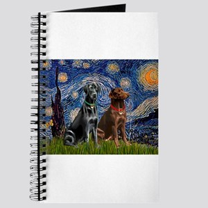 Starry / 2 Labradors (Blk+C) Journal
