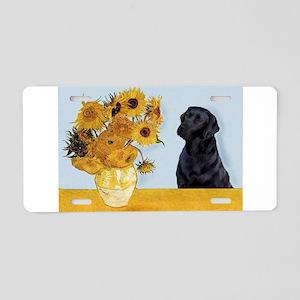 Sunflowers / Lab Aluminum License Plate