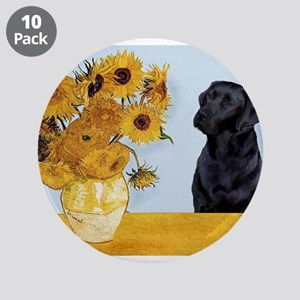 """Sunflowers / Lab 3.5"""" Button (10 pack)"""