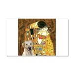 The Kiss-Yellow Lab Car Magnet 20 x 12