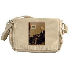 Mom's Chocolate Lab Messenger Bag