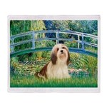 Bridge / Lhasa Apso #4 Throw Blanket