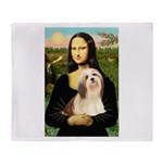 Mona / Lhasa Apso #4 Throw Blanket