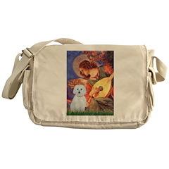 Mandolin Angel / Maltese (B) Messenger Bag