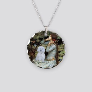 Ophelia #1 / Maltese (B) Necklace Circle Charm