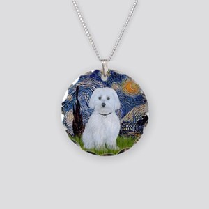 Starry / Maltese (B) Necklace Circle Charm
