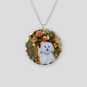 Vase / Maltese (B) Necklace Circle Charm