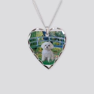 Bridge / Maltese Necklace Heart Charm