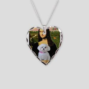 Mona's Maltese (R) Necklace Heart Charm