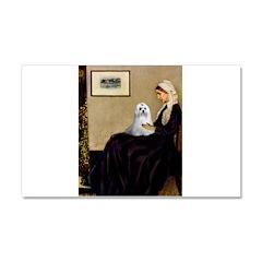 Whistler's Mother Maltese Car Magnet 20 x 12