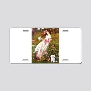 Windflowers / Maltese Aluminum License Plate
