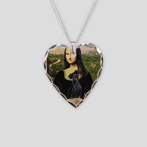 Mona / Min Pinscher Necklace Heart Charm