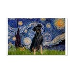 Starry / Min Pinscher 20x12 Wall Decal