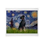Starry / Min Pinscher Throw Blanket