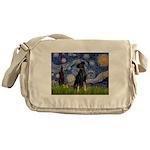 Starry / Min Pinscher Messenger Bag