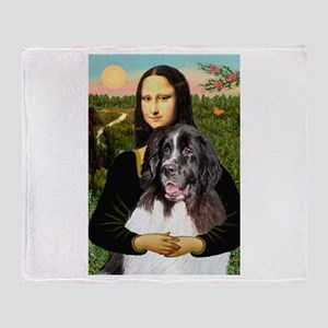 Mona Lisa's Landseer Throw Blanket