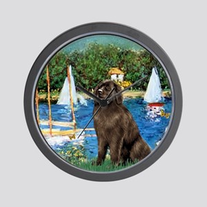 Sailboats & Newfoundland Wall Clock