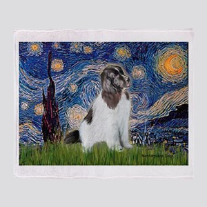 Starry Night / Landseer Throw Blanket