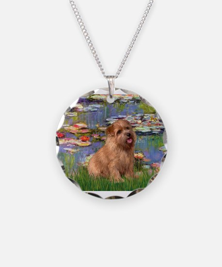 Lilies /Norfolk Terrier Necklace