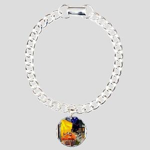 Cafe / Nor Elkhound Charm Bracelet, One Charm