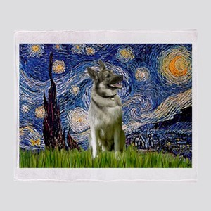 Starry / Nor Elkhound Throw Blanket