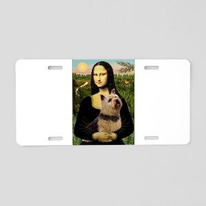 Mona / Norwich Terrier Aluminum License Plate
