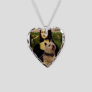 Mona / Norwich Terrier Necklace Heart Charm