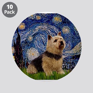 "Starry /Norwich Terrier 3.5"" Button (10 pack)"