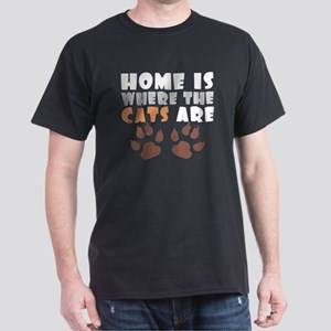 'Where The Cats Are' Dark T-Shirt
