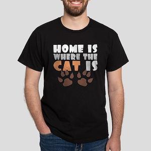'Where The Cat Is' Dark T-Shirt