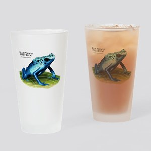 Blue Poison Dart Frog Drinking Glass