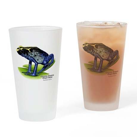 Dyeing Poison Dart Frog Drinking Glass