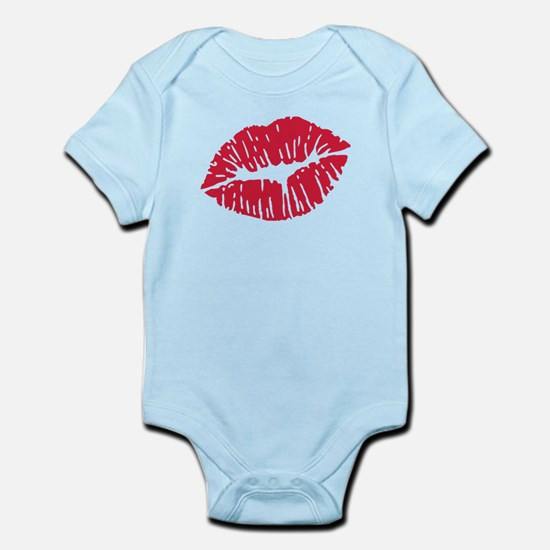 Kiss red lips Infant Bodysuit