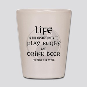Rugby and Beer Shot Glass