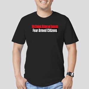 They Fear Armed Citizens Men's Fitted T-Shirt (dar